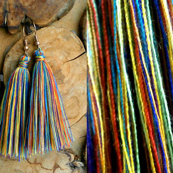 Rainbow Earrings - Bohemian Handmade Tassel Jewelry