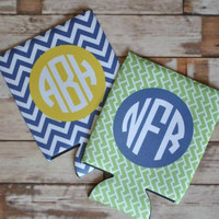 Personalized Koozies and Coasters, monogrammed favor, bridesmaid gift
