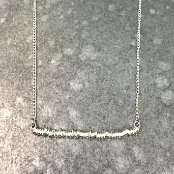Spicy Silver Ring Necklace