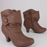 button trim bootie $18.80 in TAUPE - Booties | GoJane.com