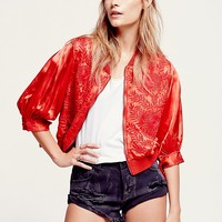 Free People Making Impressions Bomber