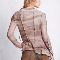 Free People Distressed Sweater Cardi