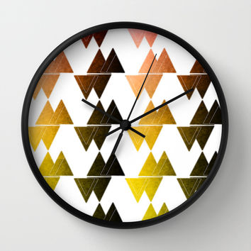 Triangles Wall Clock by VanessaGF