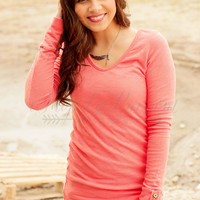 GIRLS NIGHT IN TOP IN CORAL