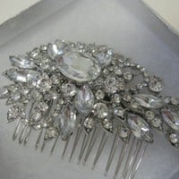 Bridal rhinestone hair combhead piecewedding gift by bridal101