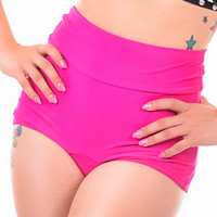 Annabelle in Pink High Waisted Swim Bottoms