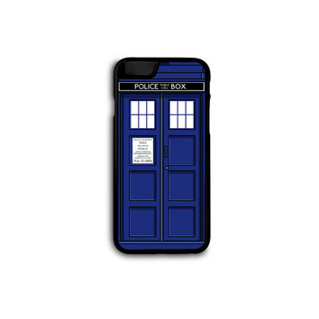 Doctor Who - Simple Tardis Case for iPhone 4/4s/5/5S/5C/6/6+ and Samsung S3/S4/S5 in Hard Plastic/Rubber FREE STANDARD SHIPPING!