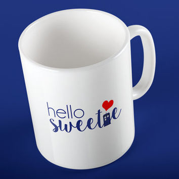 "Doctor Who - River Song ""Hello Sweetie"" Heart and TARDIS Ceramic Mug"