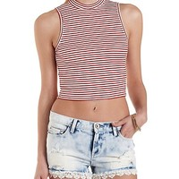 Acid Wash & Crochet Trim Distressed Denim Shorts - Lt Acid Wash