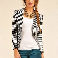 Palm Desert Blazer - Black & White at Necessary Clothing