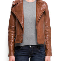 MANGO - NEW! - Leather perfecto jacket