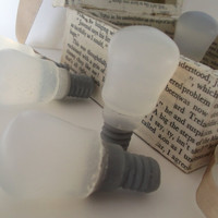 Decoupage, Light bulb, Idea, Gift, Soap- Soap Art
