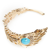 DailyLook: House of Harlow 1960 Eye of Wisdom Cuff Bracelet in Turquoise