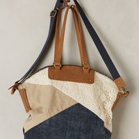 Triplicate Patchwork Leather Bag