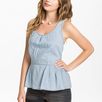 Stacy Peplum Top, Only