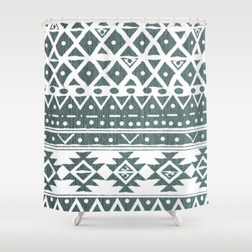 NORTH WIND TRIBAL Shower Curtain by Nika