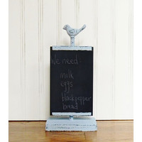 Kitchen Chalkboard, Pale Blue Chalkboard, Shabby Chalkboard, Country Shabby Chic Chalkboard, French Country Chalkboard, Bird Chalkboard