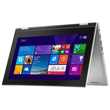 "Dell - Inspiron 11.6"" Touch-Screen Laptop - Intel Pentium - 4GB Memory - 500GB Hard Drive - Silver"