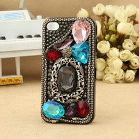 Shiny artificial vintage swarovski iPhone 5  4s 3gs ipod touch girly case - Apple iPhone Cases - Phone Cases Rhinestones iPhone 5 4S 3GS Cases, Couple Necklaces / Wedding Rings & Uncommon Gift Ideas - Worldwide Shipping