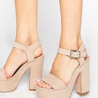 ASOS HIGHLIGHT Wide Fit Heeled Sandals