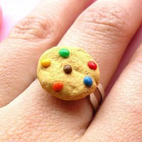 Rainbow Chocolate Chip Cookie Ring by BabyLovesPink on Etsy