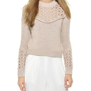 3.1 Phillip Lim Pointelle Stitch Pullover