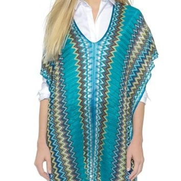 Missoni Fringe Long Poncho