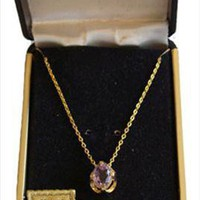 Exceptional Costume Jewelry Amethyst Stone Necklace