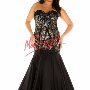 Fabulouss by Mac Duggal 76791 Strapless Lace Mermaid