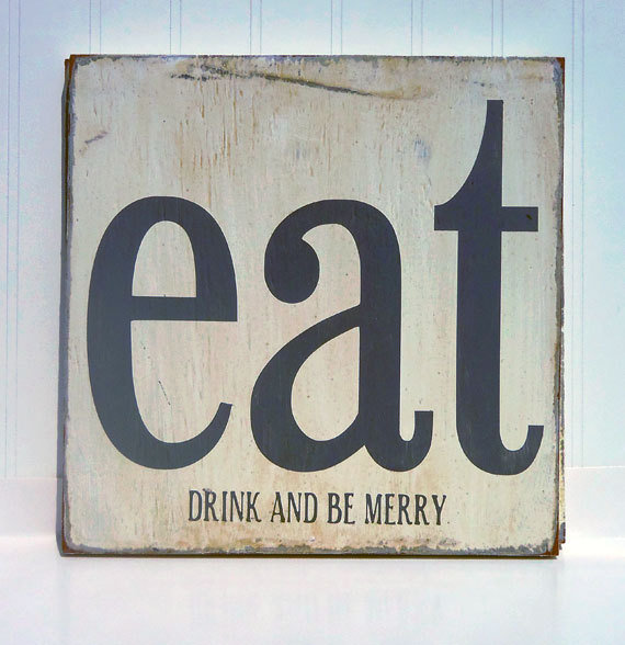 Wall Art Signs Kitchen : Kitchen art wall decor eat drink and be from pumpkins