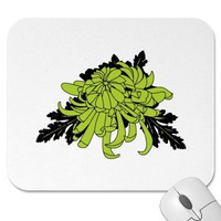 Chrysanthemum Mouse Pad from Zazzle.com