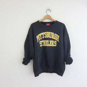 vintage Pittsburgh Steelers NFL sweatshirt. cotton blend sweatshirt.