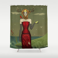 The pond. Shower Curtain by ANVIK