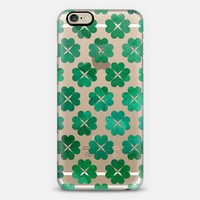 Watercolor Shamrocks iPhone 6 case by Tracey Coon | Casetify