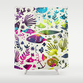 Under The Sea Shower Curtain by 83oranges.com