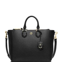 Tory Burch Robinson Pebbled Square Tote