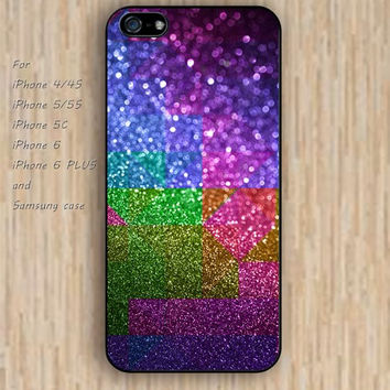 iPhone 6 case colorful glitter irregular geometry iphone case,ipod case,samsung galaxy case available plastic rubber case waterproof B123