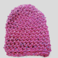Candy Kisses Pink Beanie- Adult Size