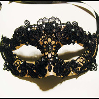 Beautiful Masquerade Mask : &quot;Gothic Colombina&quot;