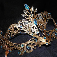 Custom Two Tone Metallic Masquerade Mask