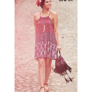 Aeropostale  Floral Paisley Tiered Dress
