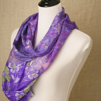 Lal Bagh at Twilight, eco friendly, hand dyed silk scarf, natural dyes, infinty style scarf, artisan, silk, scarf, accessory, wearable art