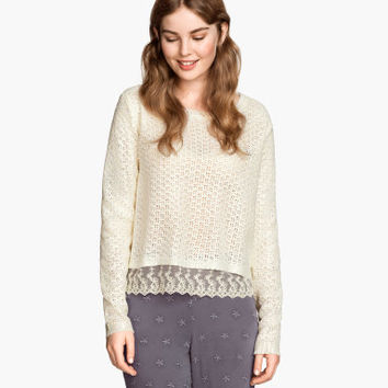 H&M Coated Knit Sweater $39.95