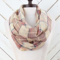 Plaid Print Infinity Scarf | Altar'd State