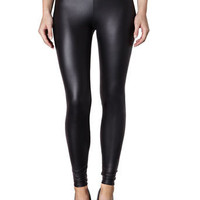 Black wet look legging - Pants & Leggings  - Clothing