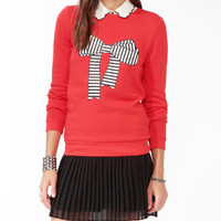 Striped Bow Pullover