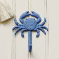 Crab Wall Hook, Choose Your Color, Beach decor, Beach themed decor, Cast Iron Wall Hooks, Wall Hooks, Coat Hooks, Beach House, Pool House
