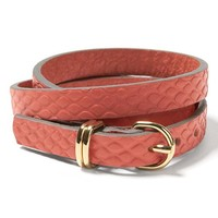 Leather Triple-Wrap Bracelet