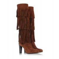 Walnut Fringie Boot