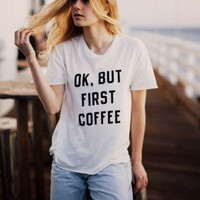 MEREDITH BUT FIRST COFFEE TOP